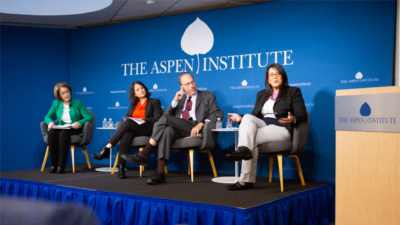 "Panelists at ""Opportunity in America: What Does It Mean?"" (October 25, The Aspen Institute)"