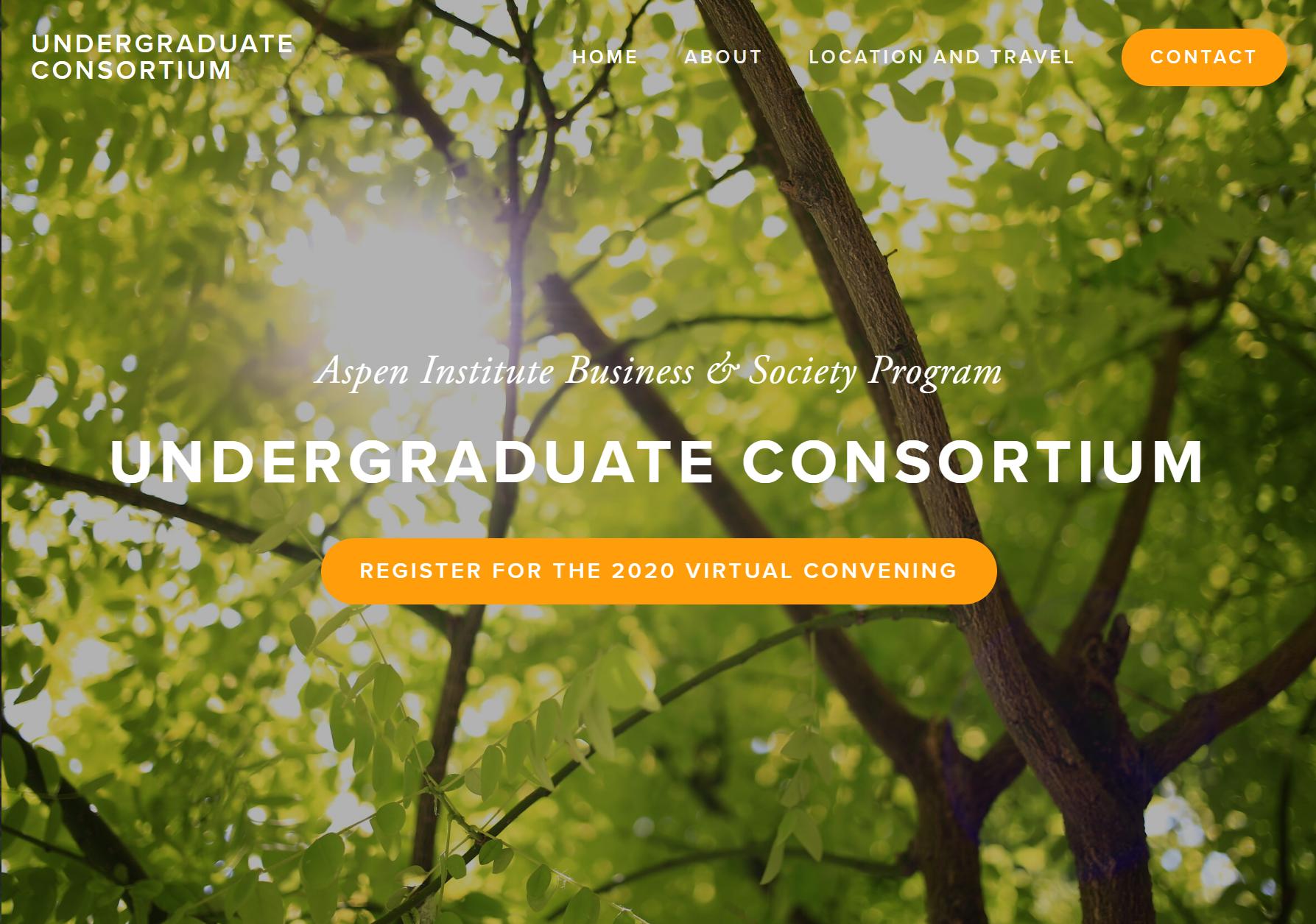 Business & Society Program 2020 Undergraduate Convening
