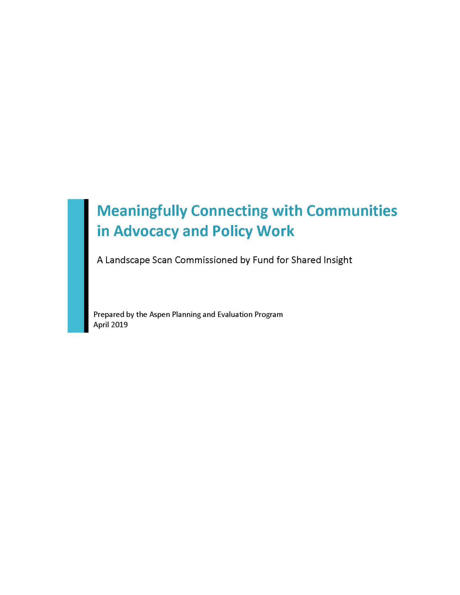 Meaningfully Connecting with Communities