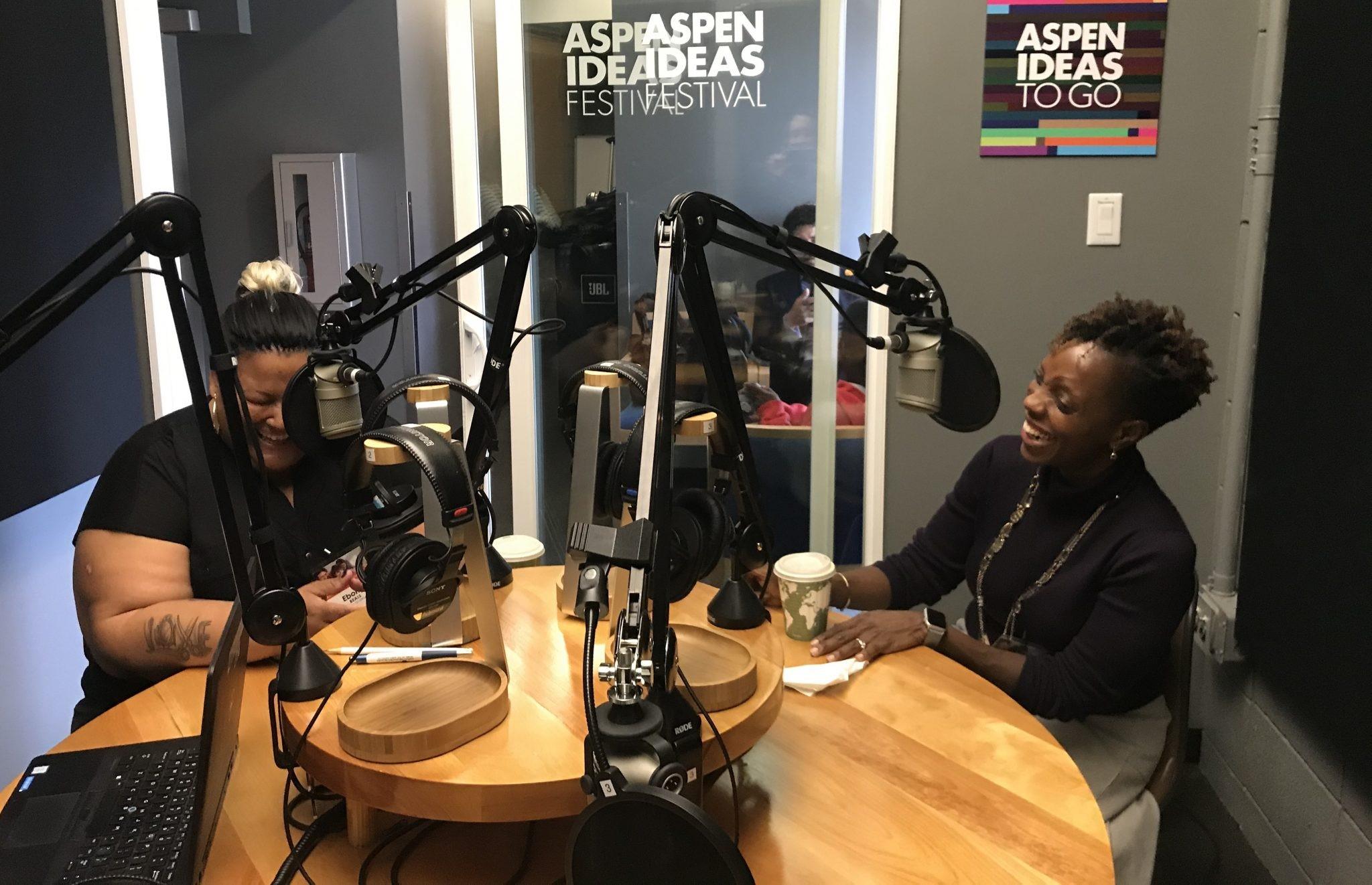 Aisha Nyandoro and Ebony Beals