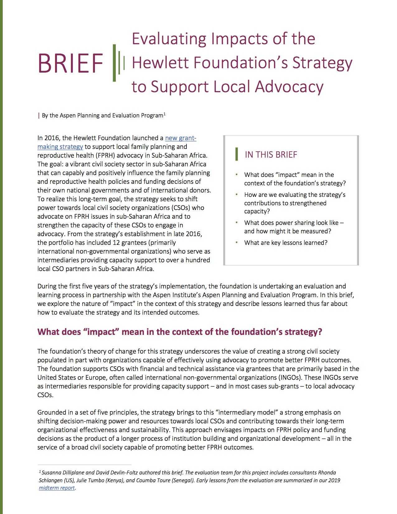 Brief: Evaluating Capacity and Power Sharing