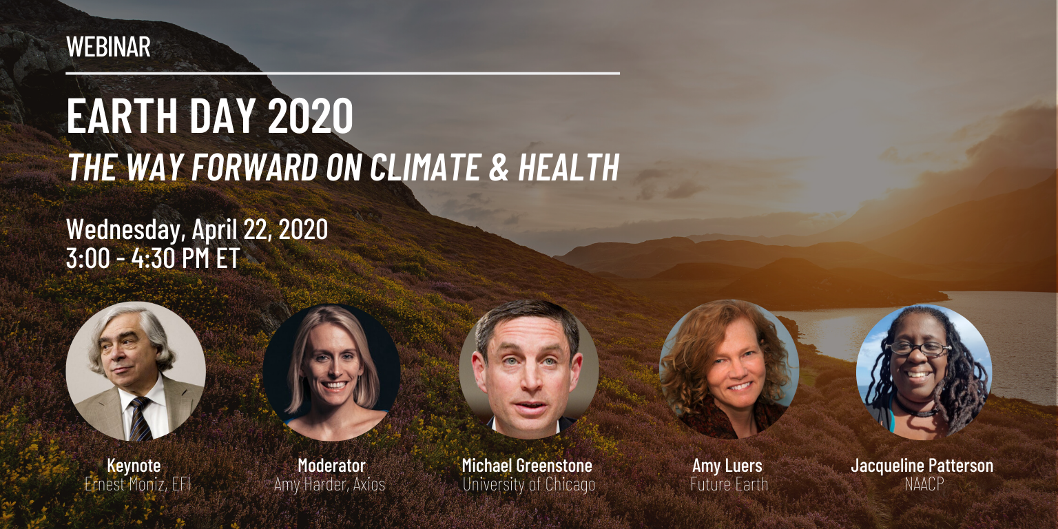 Earth Day 2020: The Way Forward on Climate & Health