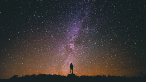 Woman Looking to the Stars