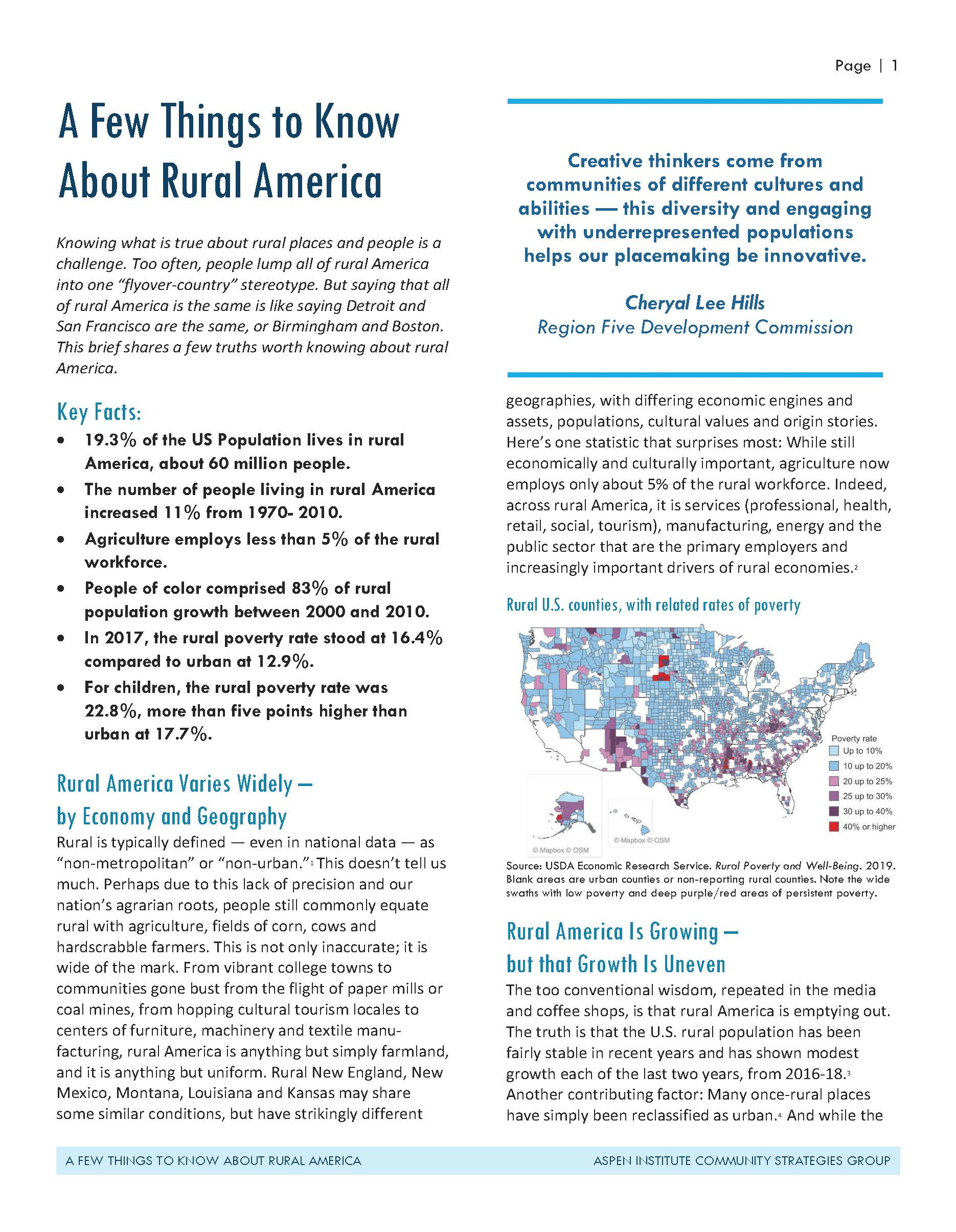 A Few Things to Know About Rural America