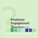 "Screenshot of report cover: ""Employer Engagement Question Bank"""
