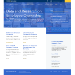 """Screenshot of the webpage, """"Data and Research on Employee Ownership"""" by the National Center for Employee Ownership"""