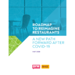 "Screenshot of first page: ""Roadmap to Reimagine Restaurants: A New Path Forward After COVID-19"""