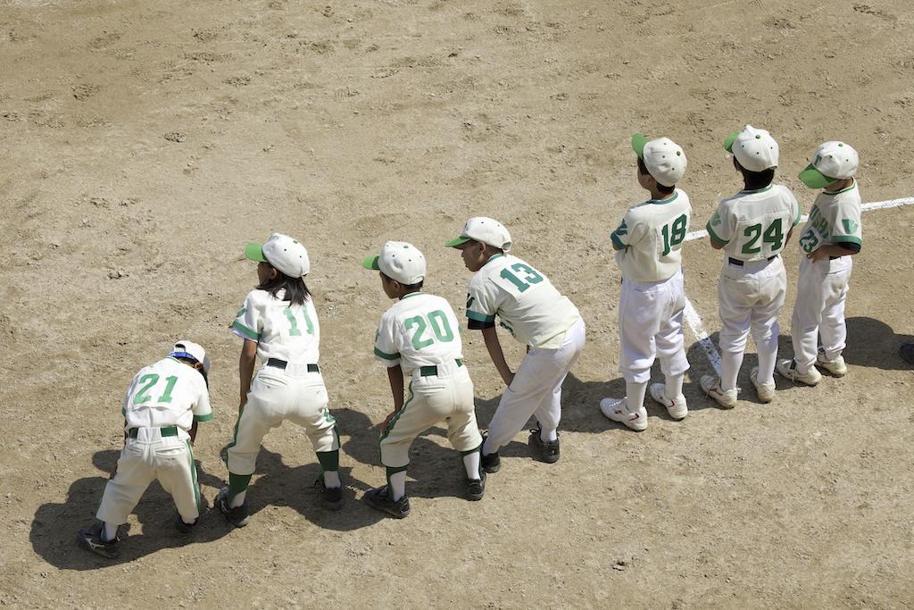 Little League players