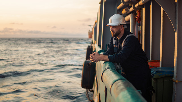 maritime worker on ship
