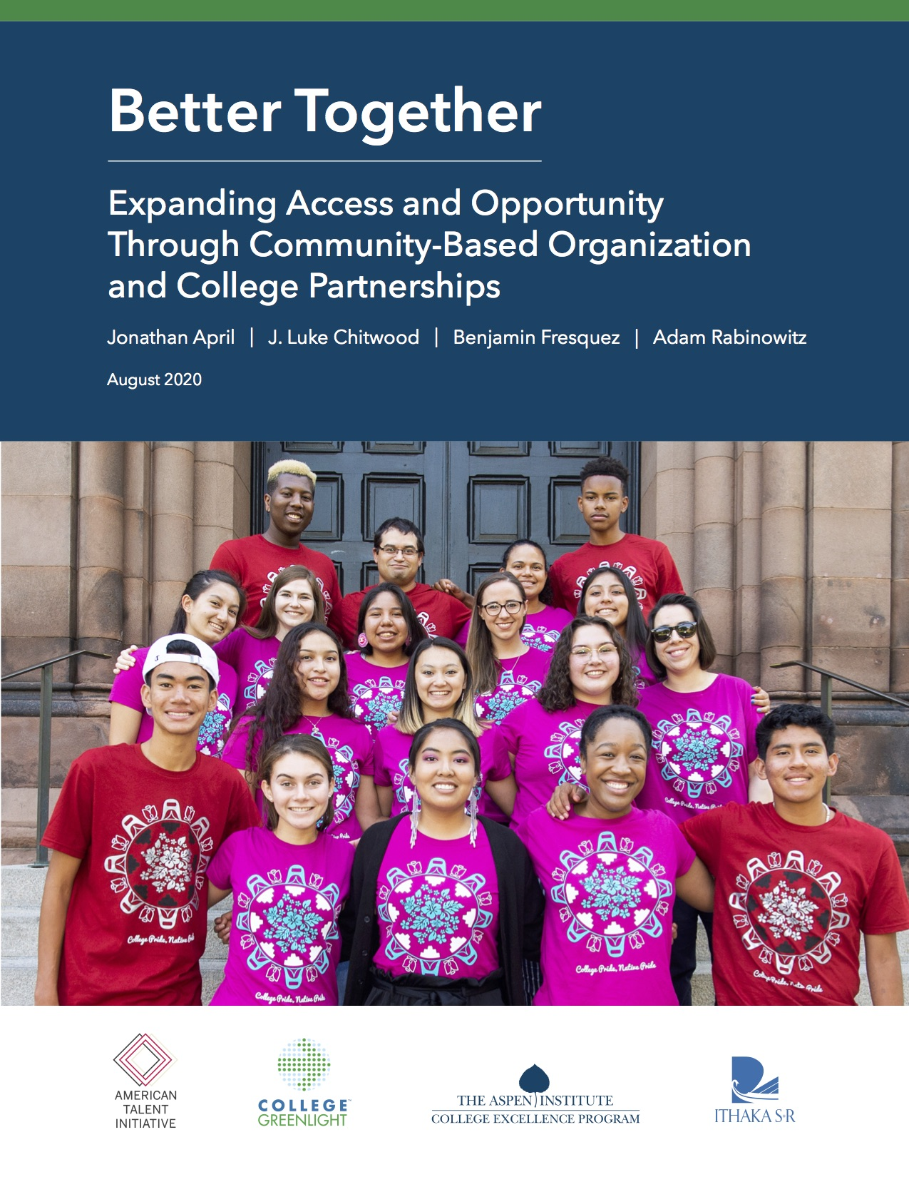 Better Together: Expanding Access and Opportunity Through Community-Based Organization and College Partnerships