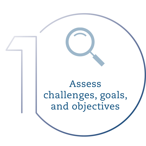Assess challenges, goals, and objectives