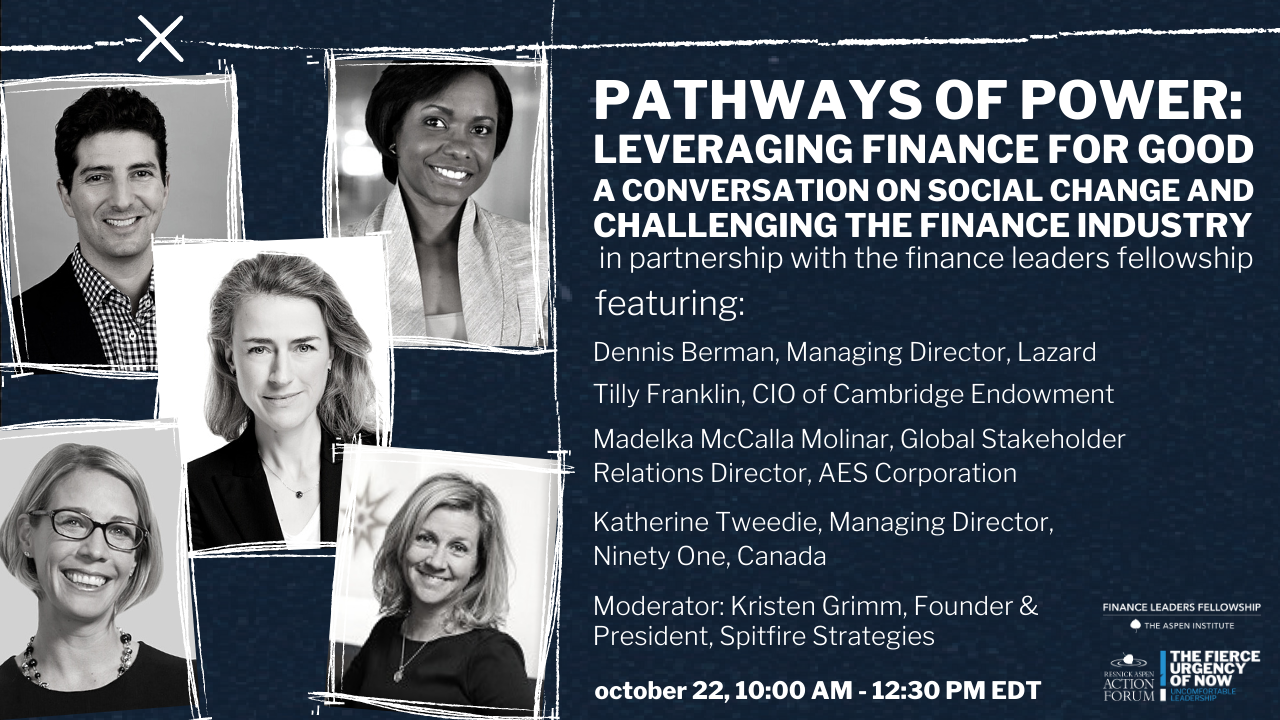 Pathways of Power: Leveraging Finance for Good