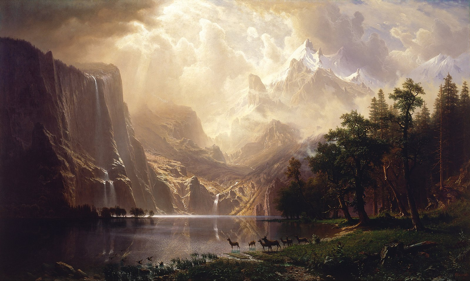 Among the Sierra Nevadas by Albert Bierstadt