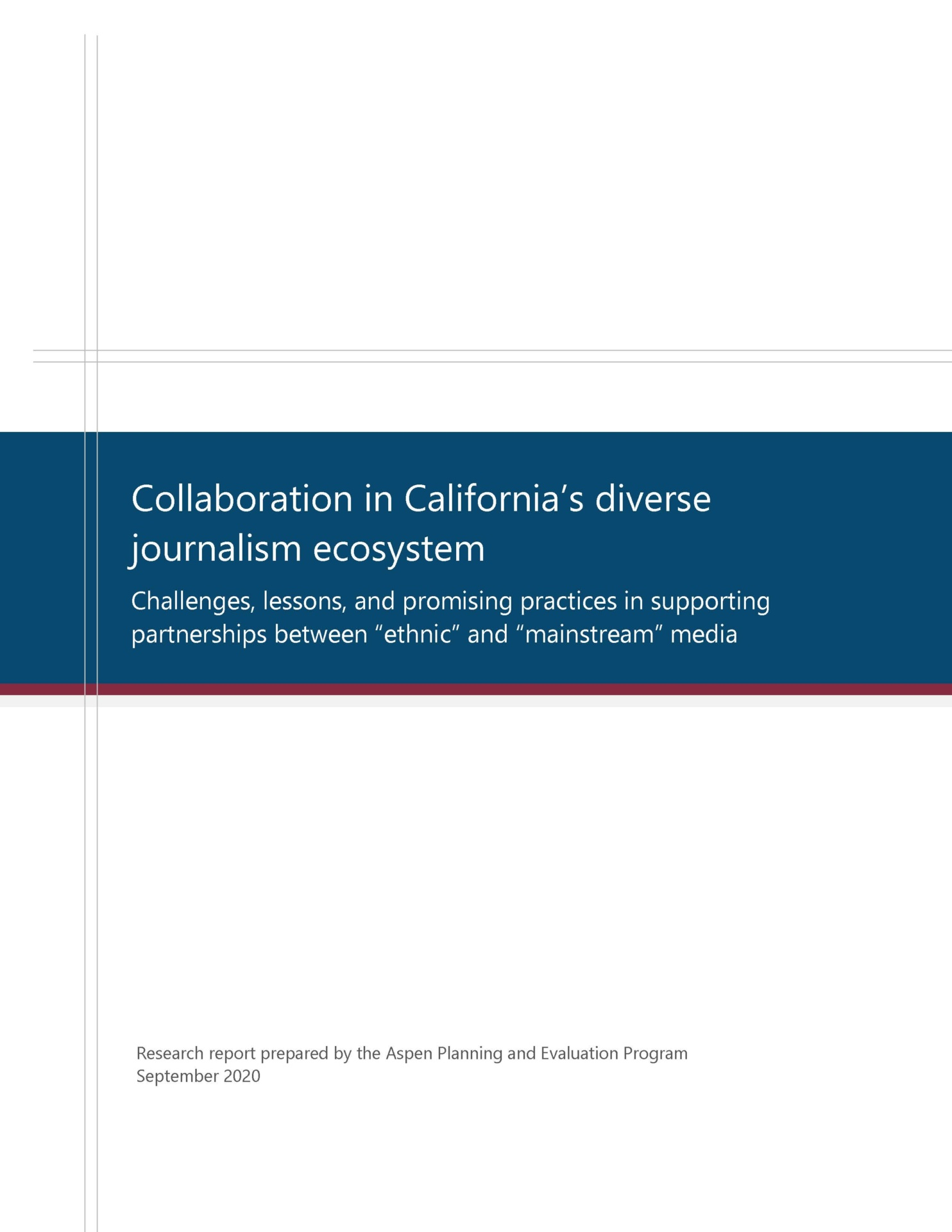 Collaboration in a diverse journalism ecosystem