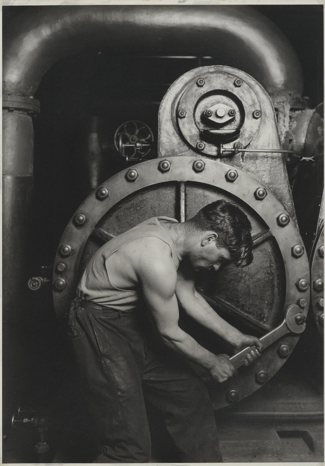 Power House Mechanic by Lewis Wickes Hine