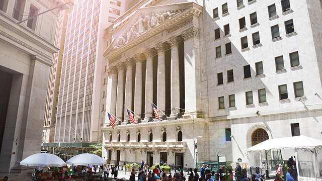 Wall Street stock exchange building