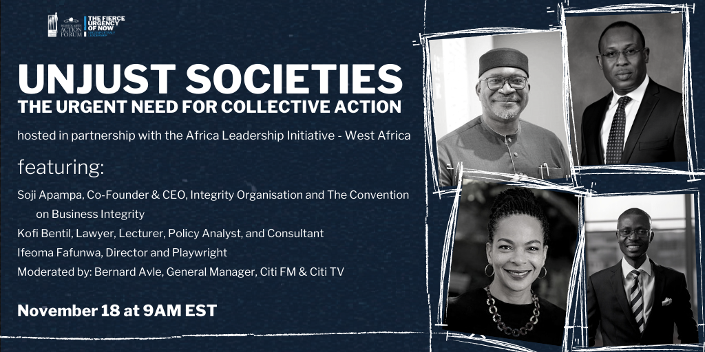 Unjust Societies: The Urgent Need for Collective Action
