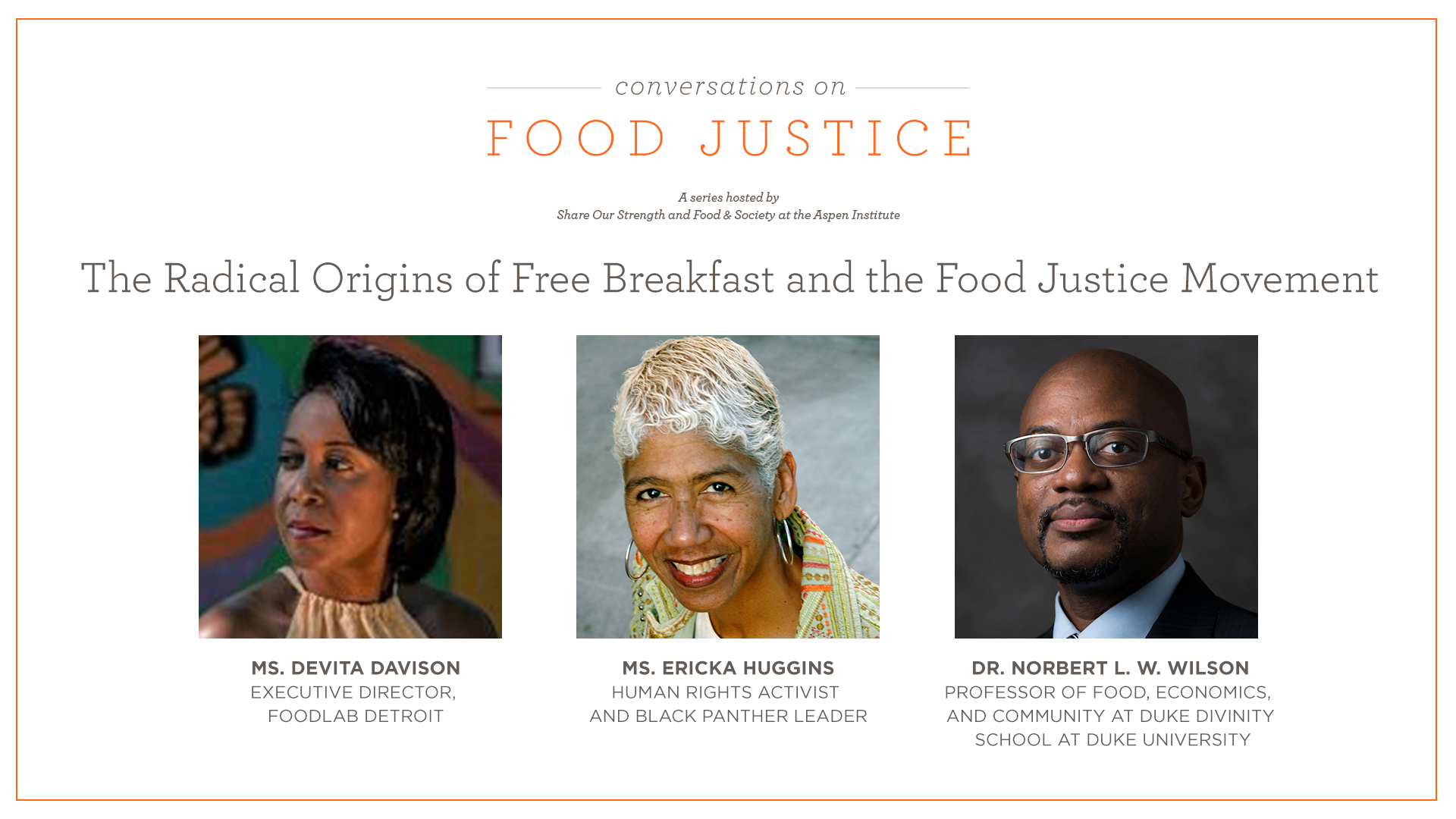Conversations on Food Justice series: The Radical Origins of Free Breakfast and the Food Justice Movement