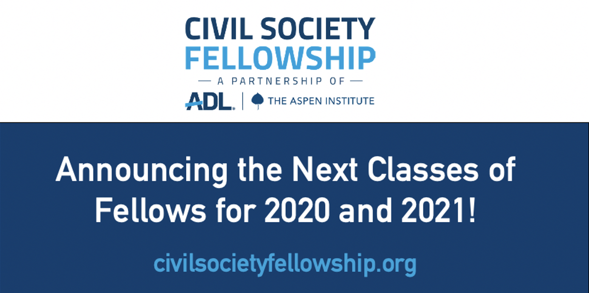 ADL and Aspen Institute Announce Two Civil Society Fellowship Classes in Response to the Heightened Need for Civil Discourse in a Divided America