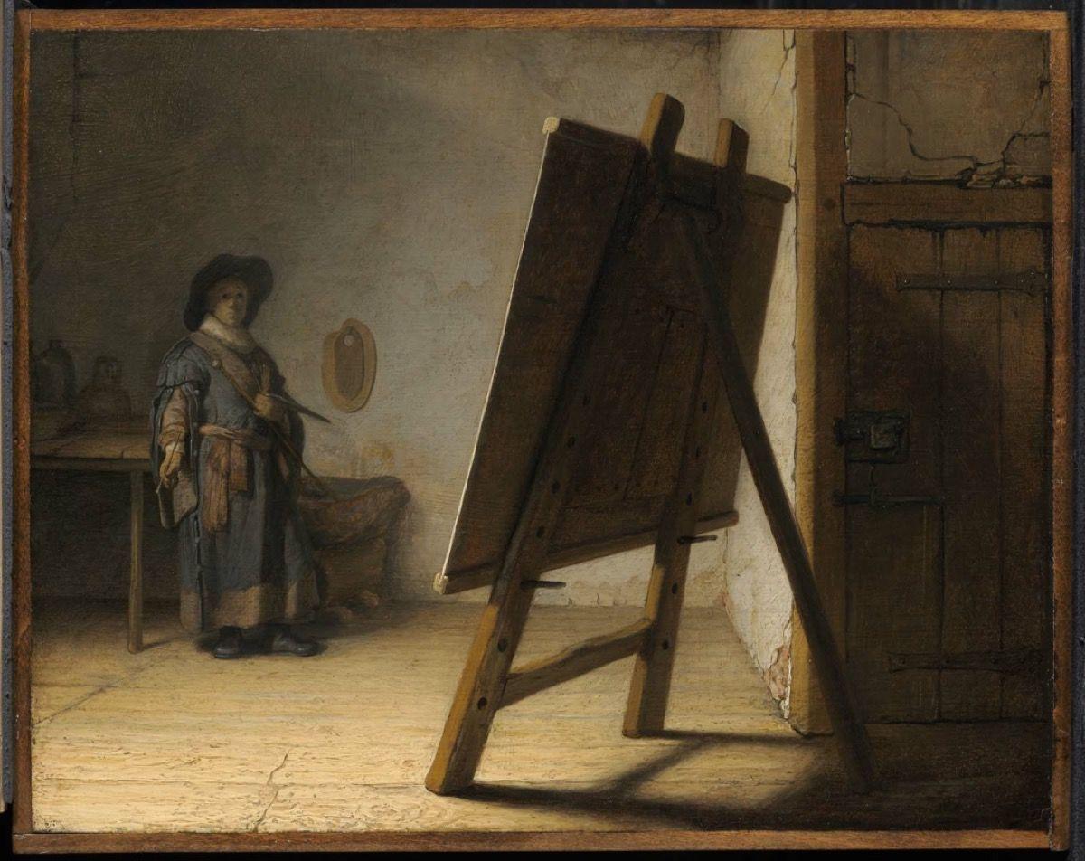 Artist in His Studio By Rembrandt van Rij