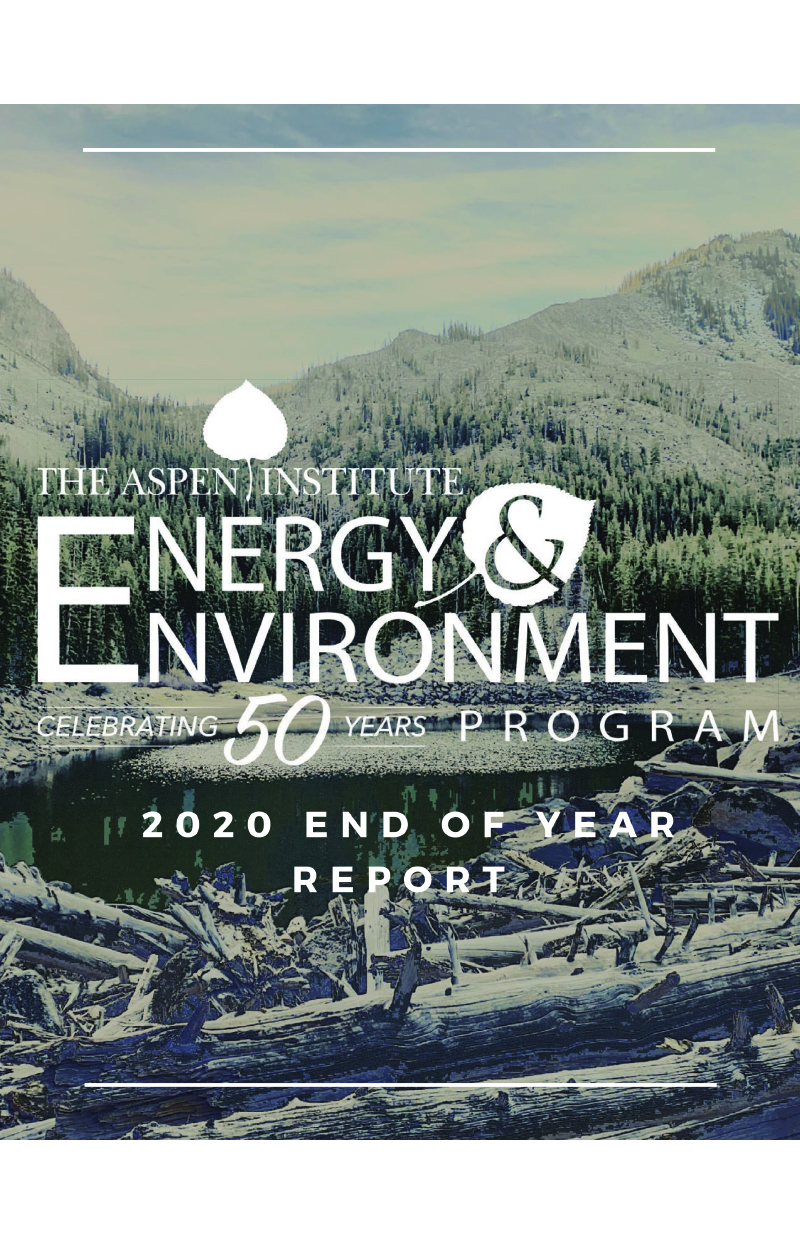 Energy and Environment Program 2020 End of Year Report