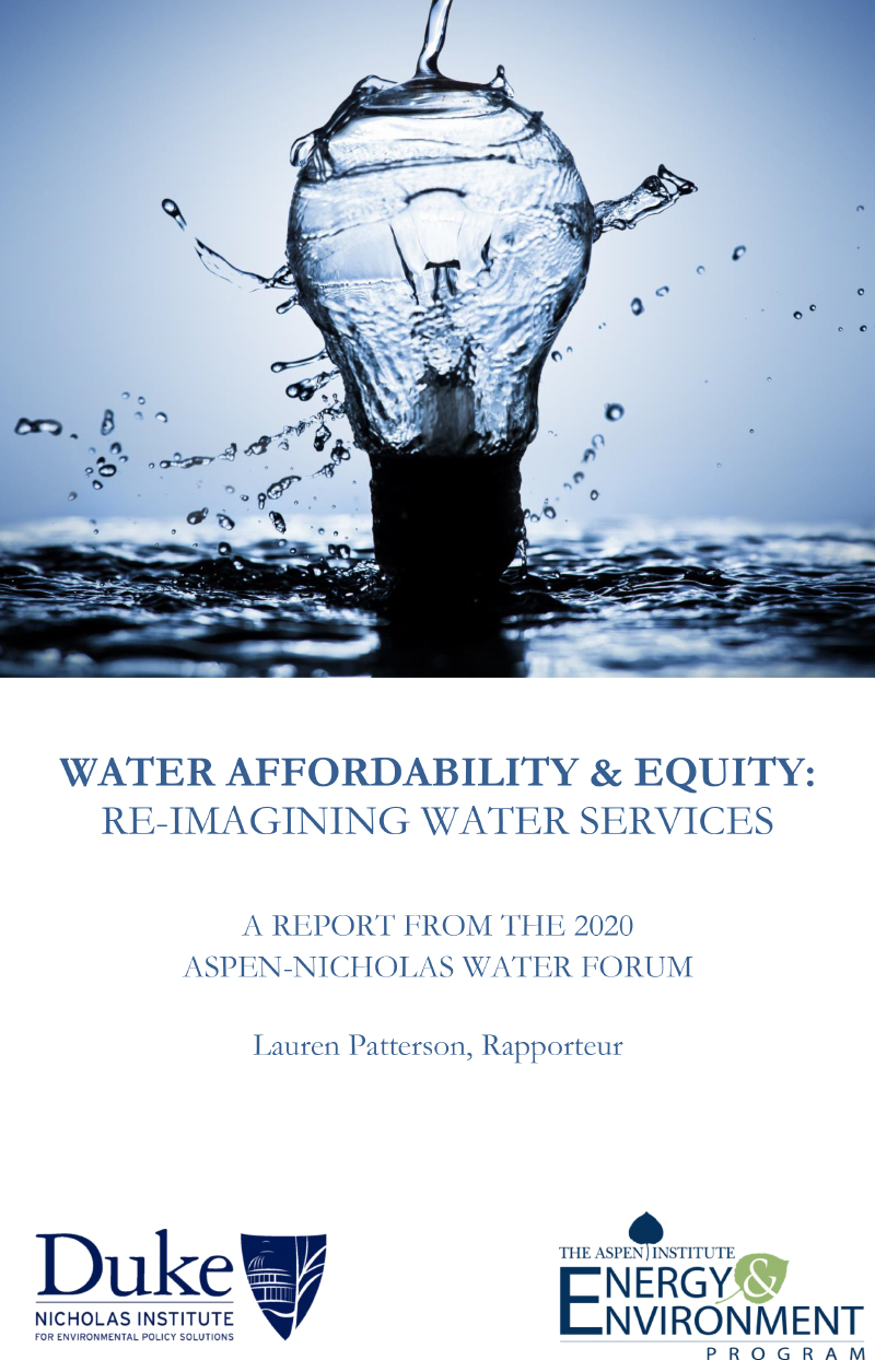 Water Affordability & Equity: Re-Imagining Water Services