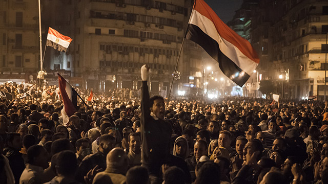 Demonstration in Tahrir Square, Cairo