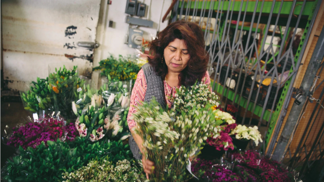 Photo of Rosa Funes, Paradise Flowers & Gifts, Redwood City, California.