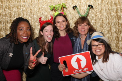 Colleague Savilla Pitt (center) in happier times with Aspen Digital teammates (left to right) Dominique Harrison, Beth Semel, Tricia Kelly, and Kristine Gloria, January 2020