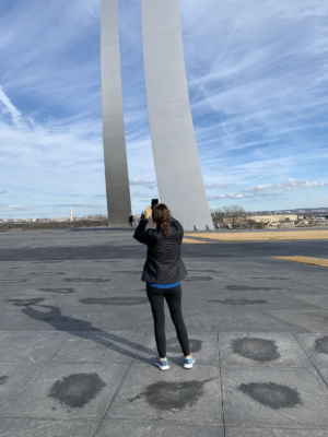Colleague Savilla Pitt at the Air Force Memorial, January 2, 2021