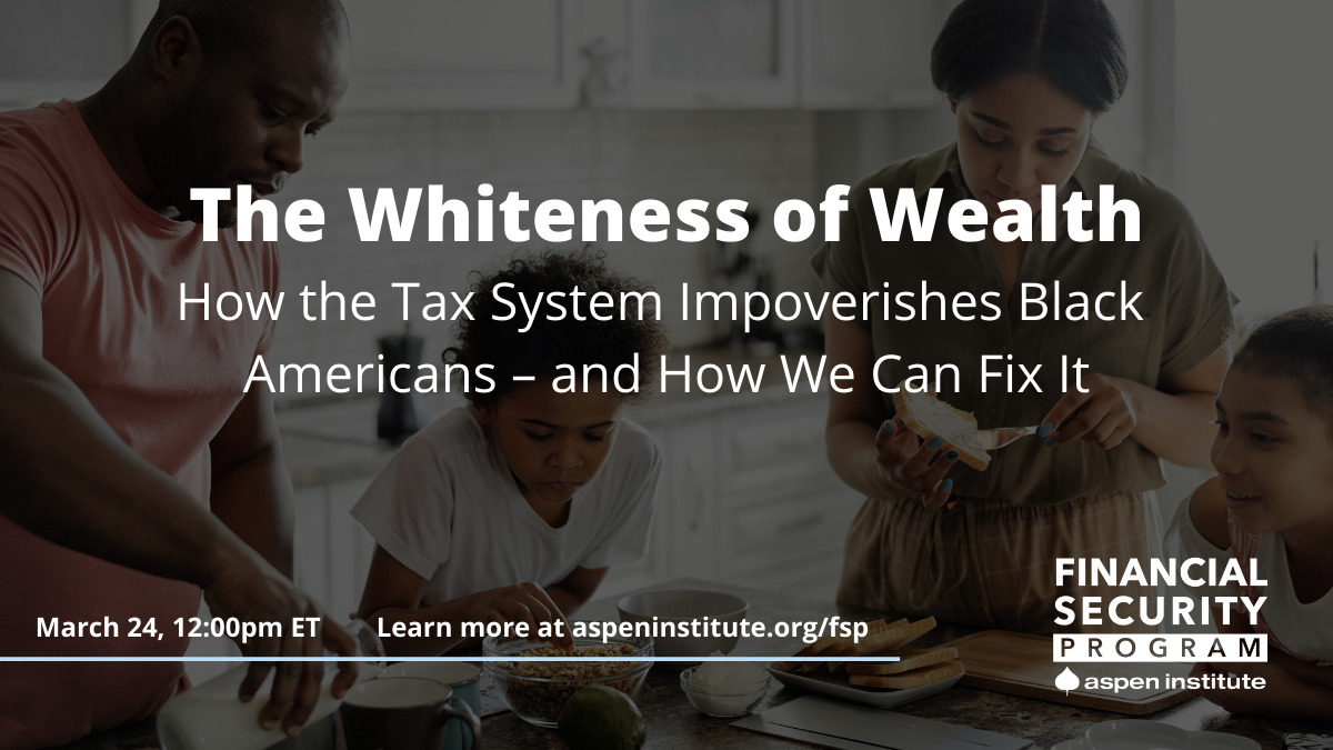 The Whiteness of Wealth: How the Tax System Impoverishes Black Americans – and How We can Fix It