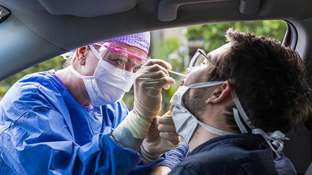 Covid nasal swab test