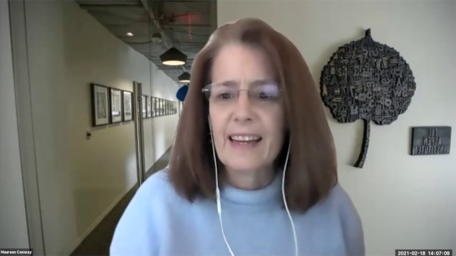 Thumbnail screenshot of Maureen Conway on Zoom