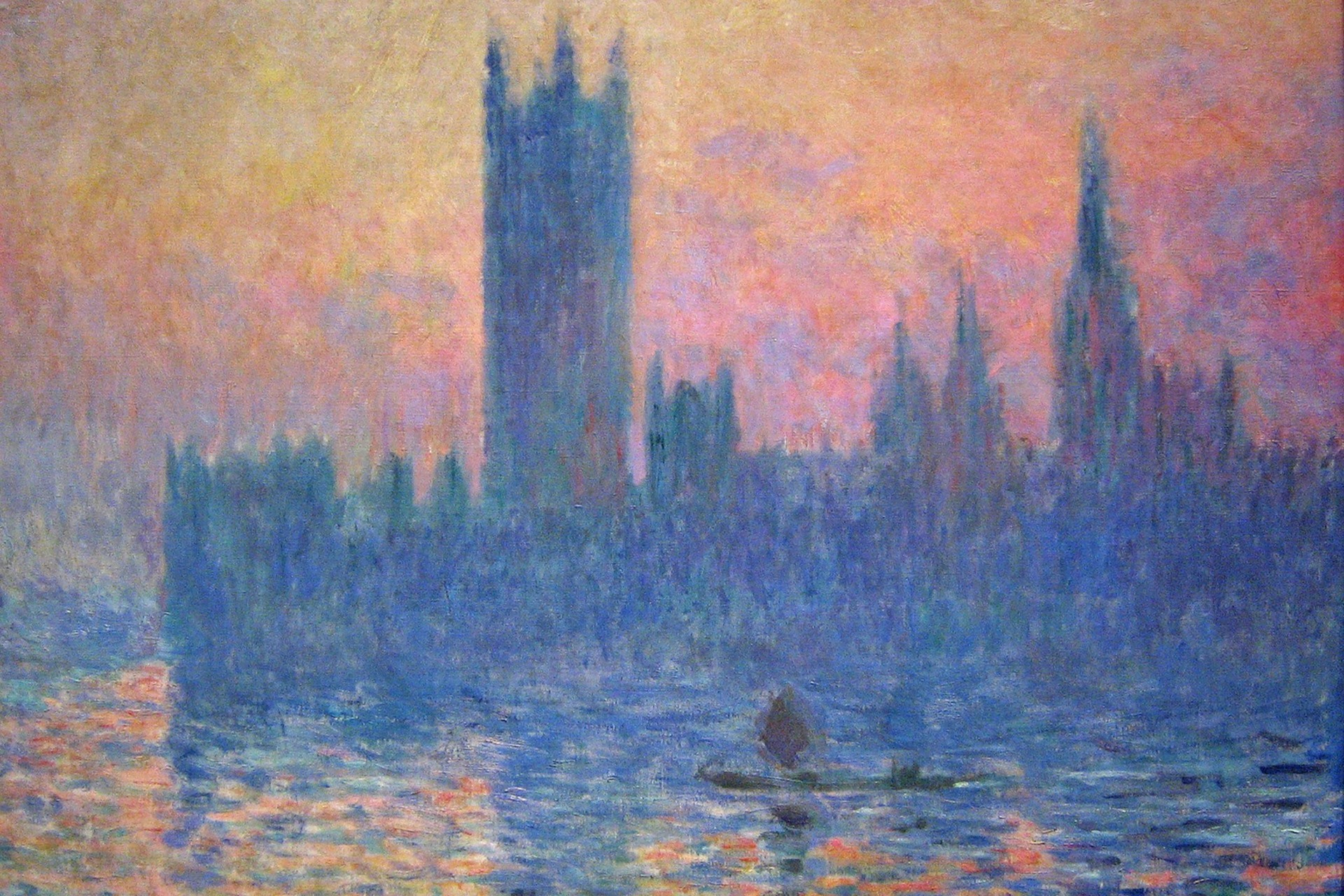 Houses of Parliament, Effect of Sunlight By Claude Monet