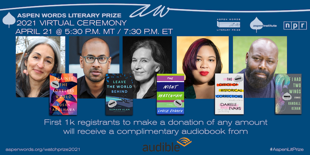 Aspen Words Literary Prize Virtual Awards Ceremony