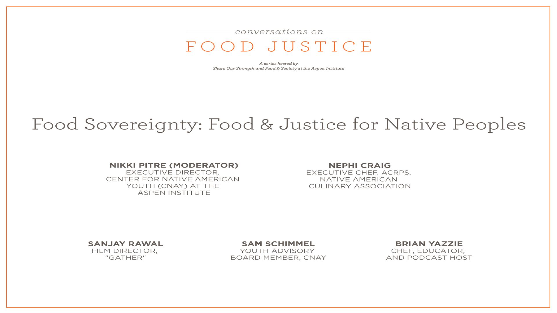 Food and Justice for Native Peoples