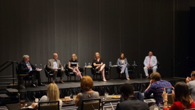 Shelly Steward and others take part in a public discussion at the Council of State Government's Southern Legislative Conference