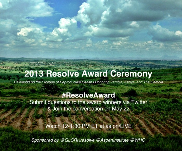 #ResolveAward promotion
