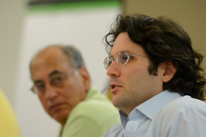 Charlie Firestone and Michael Fertik at the Aspen Institute Roundtable on Information Technology