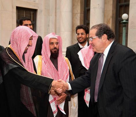 Saudi Delegation with Justice Antonin Scalia