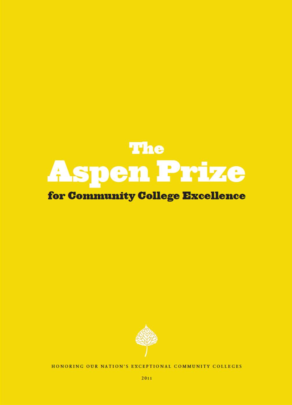 2011 Aspen Prize for Community College Excellence