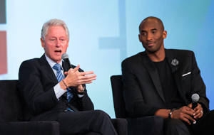 President Clinton and Kobe Bryant at ESPN Town Hall on Kids and Sports
