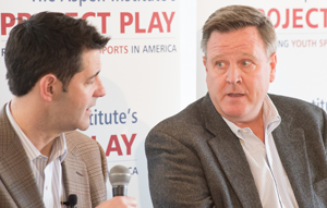 Tom Farrey and USOC CEO Scott Blackmun