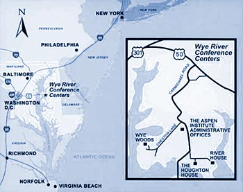 Wye River map