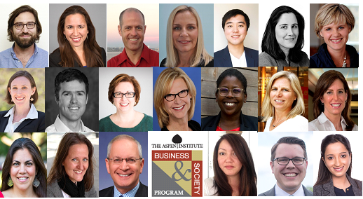 2015 Class of Aspen Institute First Mover Fellows