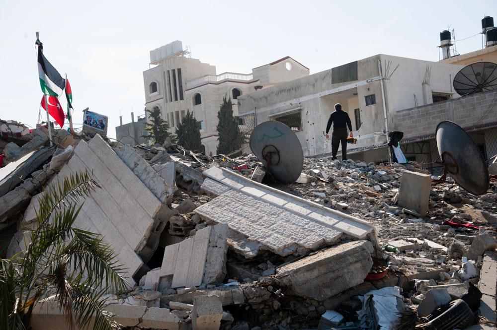 A building in Gaza
