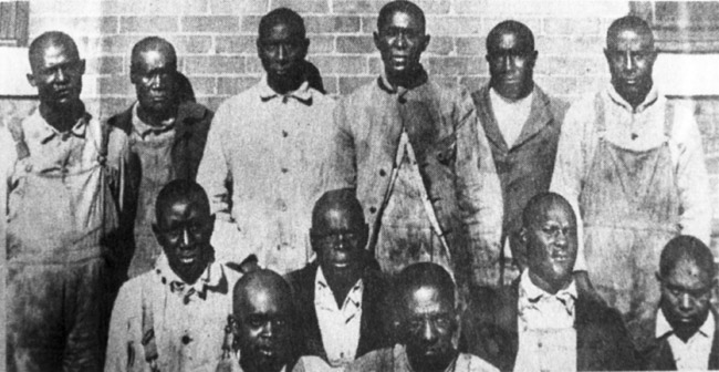 Defendants in the Elaine Race Riot case.