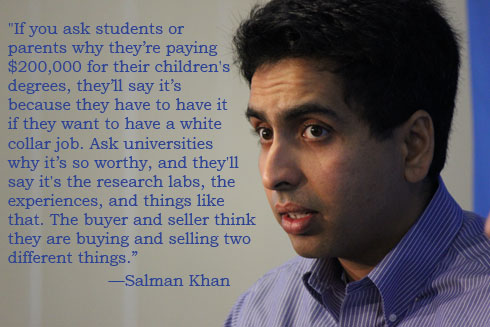 Salman Khan on Higher Education
