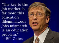 Bill Gates on the Job Market