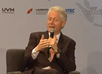 President Bill Clinton at the Laureate Summit on Youth Productivity in Mexico
